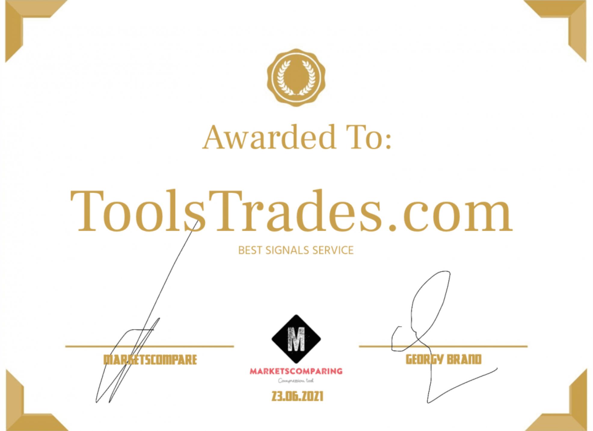 award02 Awards - ToolsTrades